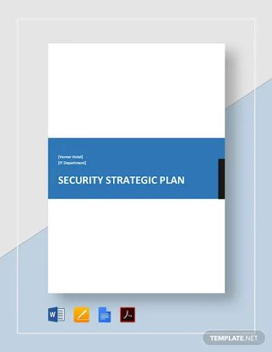 security strategic plan template