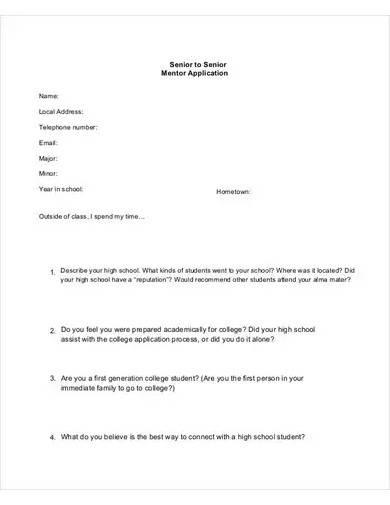 senior mentor application form