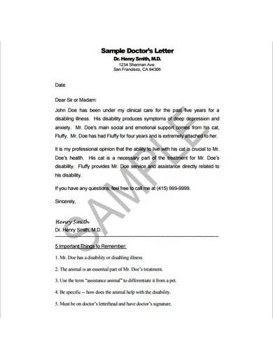 simple doctors letter template