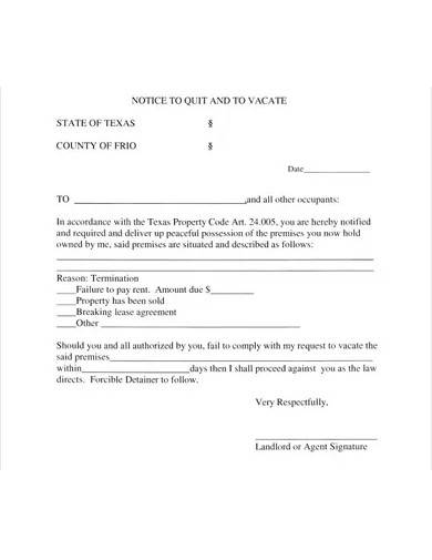 simple eviction notice form