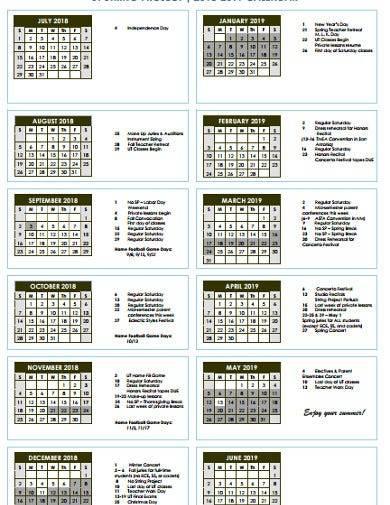 simple project calendar template1
