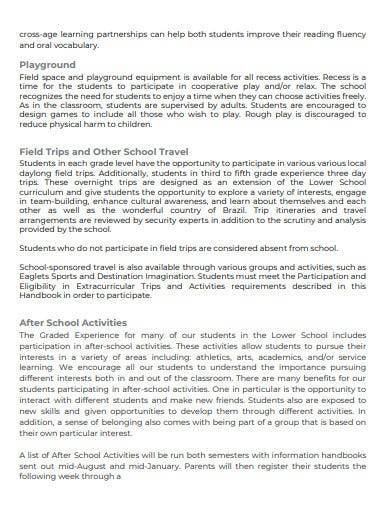 simple student and parent handbook
