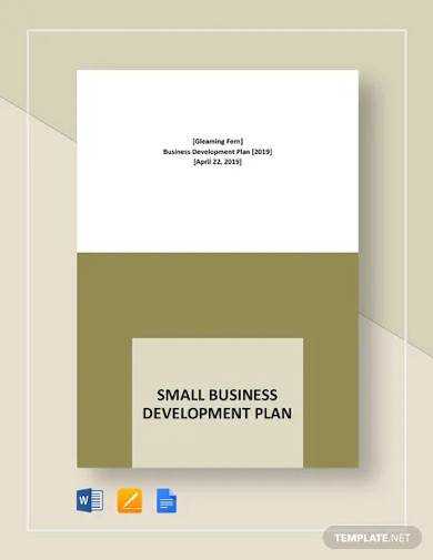 small business development plan template