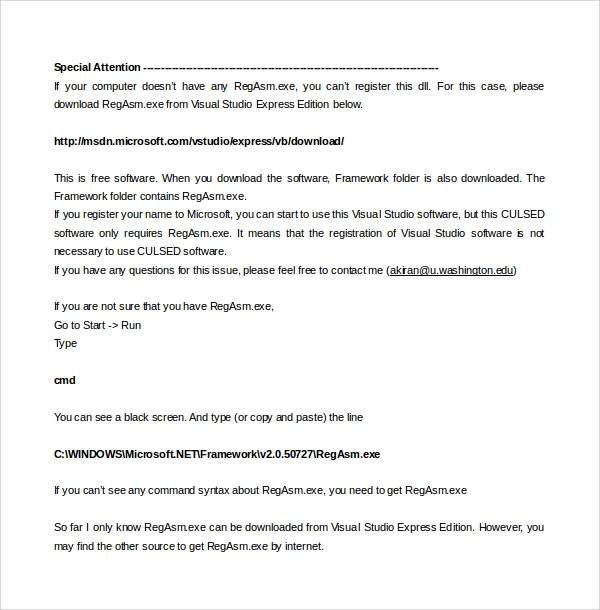 software manual template doc