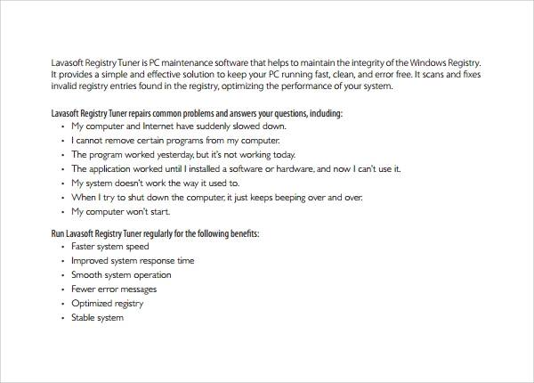 software manual template