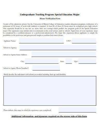 special education program form