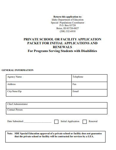 special education program services application