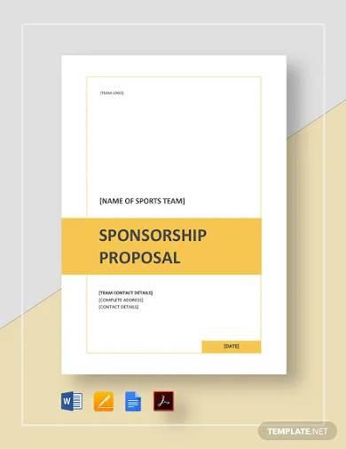 sports team sponsorship proposal template