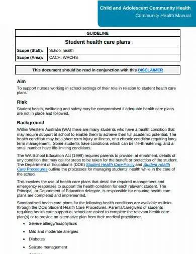 student health care plan