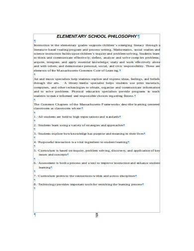 student and school philosophy handbook