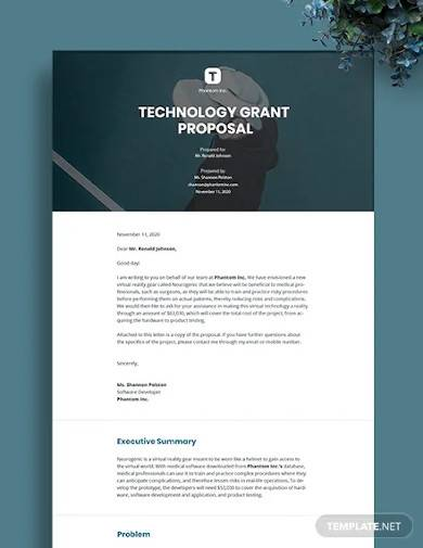 technology grant proposal template1