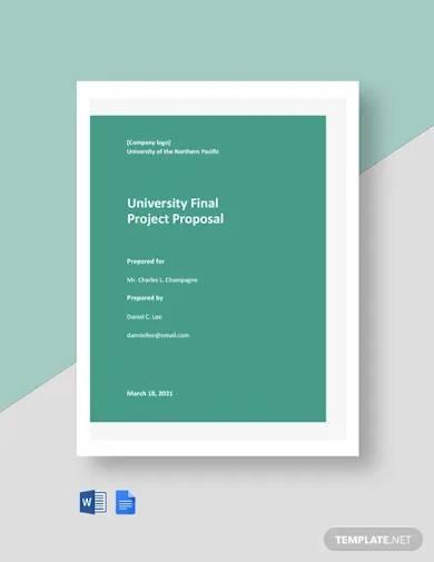 university final project proposal template