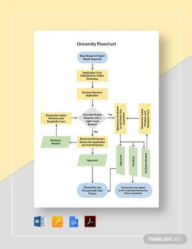 university flowchart template
