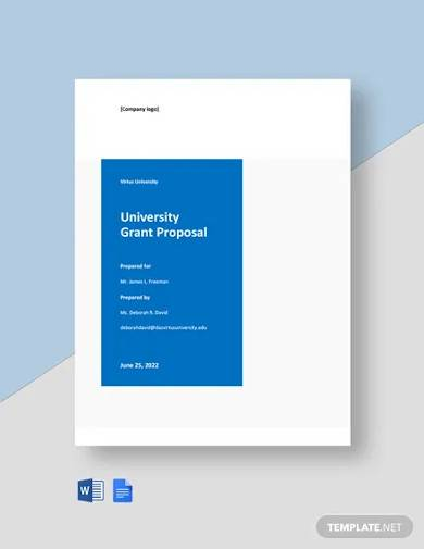 university grant proposal template