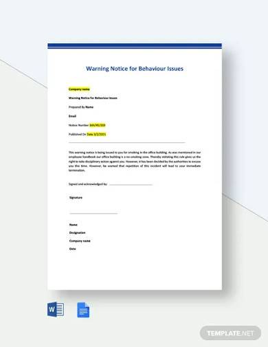 Sample Warning Letter To Employee For Bad Attitude from images.sampletemplates.com