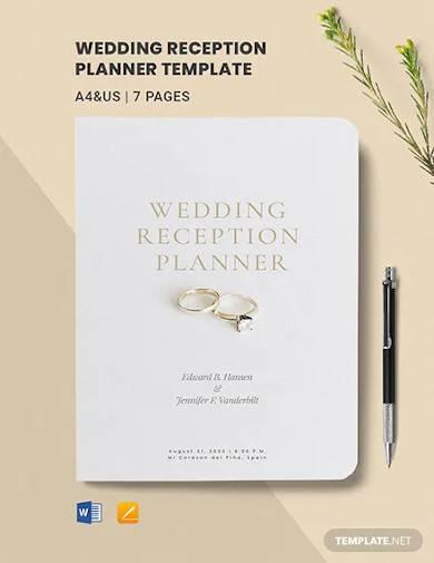 wedding reception planner template