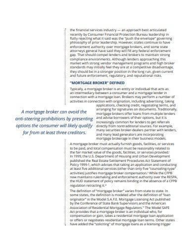 wholesale mortgage broker business plan
