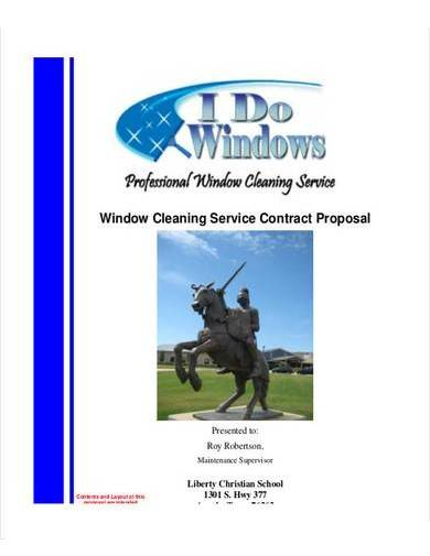 window cleaning proposal contract template