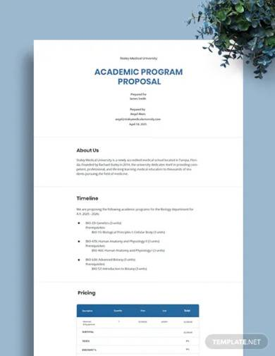 academic program proposal template