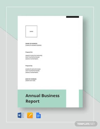 annual business report template