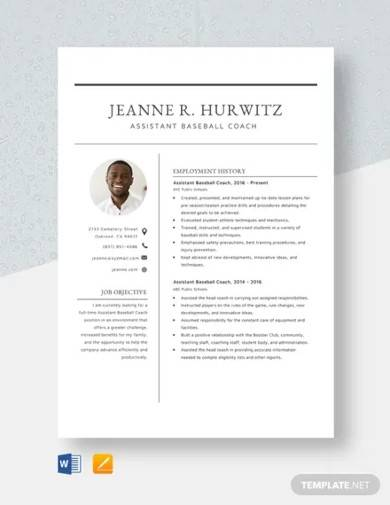 free 15  coach resume samples in ms word