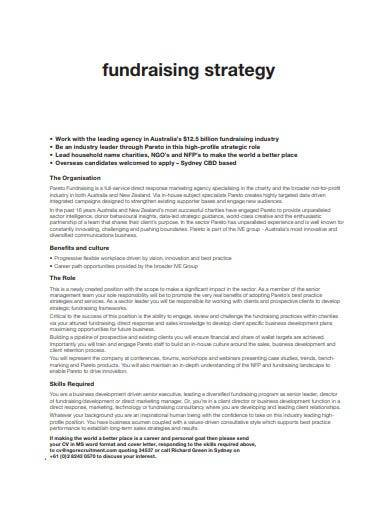 charity fundraising strategy