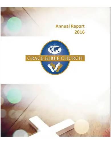 church annual report format