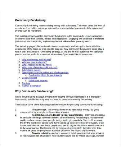community fundraising strategy