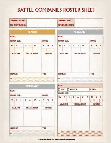 companies roster sheet format