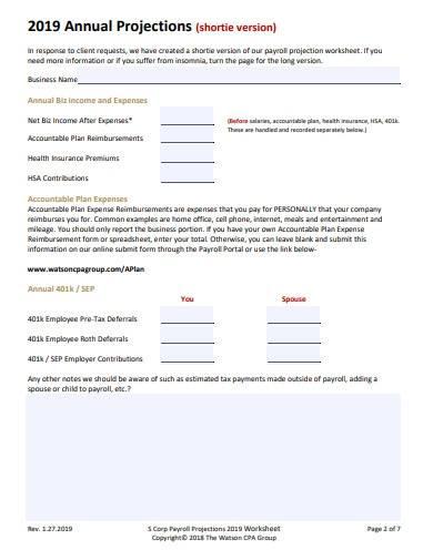 corporate payroll worksheet
