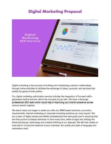 digital marketing proposal service