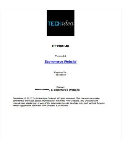 e commerce website proposal template