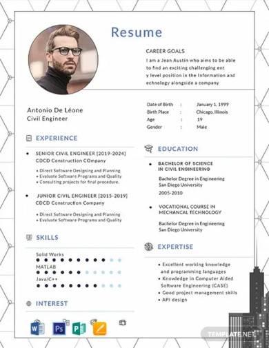 free civil engineer resume template