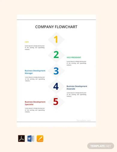 free company flowchart template