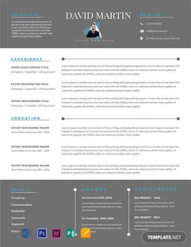 free senior civil engineer resume template
