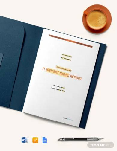 free simple it report template
