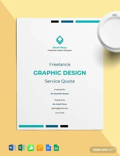 freelance graphic design quote template