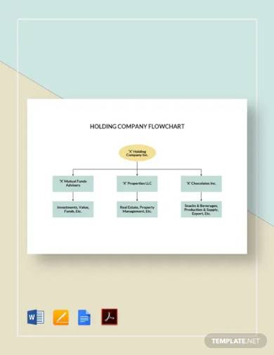 holding company flowchart template