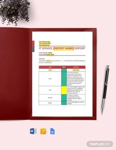 it service report template