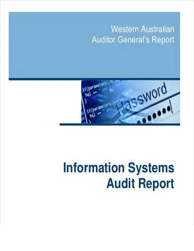 information system audit report
