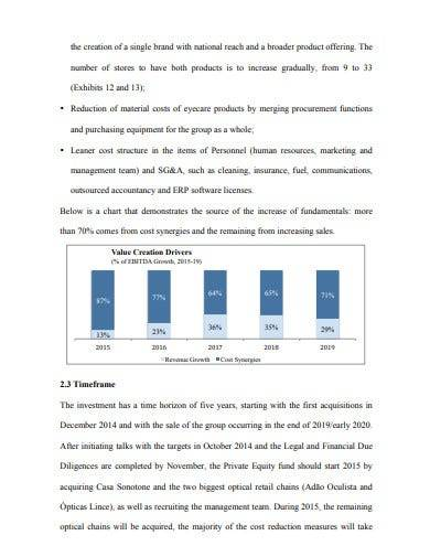 investment proposal for private equity