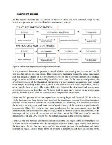 private equity investment proposal process