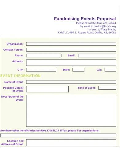 professional fundraising event proposal