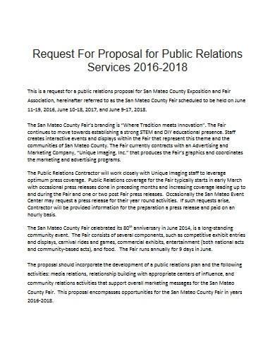 public relations service proposal
