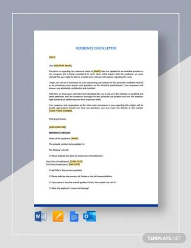 reference check letter template