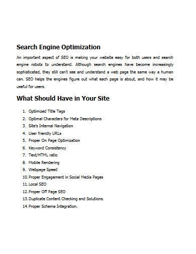 seo digital marketing proposal