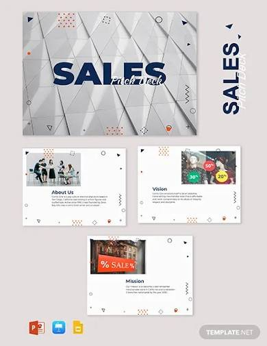 sales pitch deck template