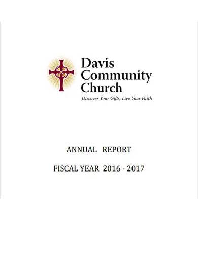 sample church annual report
