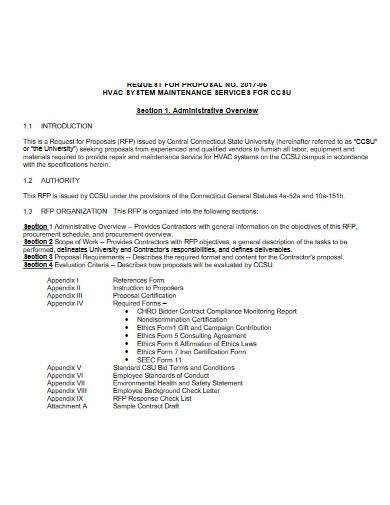 sample hvac maintenance proposal