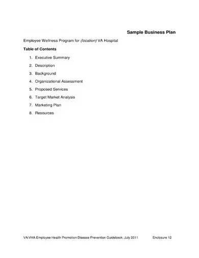 sample medical business plan proposal